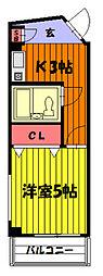 リリアス草加[205号室]の間取り