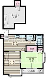 6985−グランドール中島[202号室]の間取り