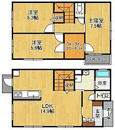[一戸建] 兵庫県西宮市甲子園口北町 の賃貸【/】の間取り