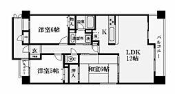 兵庫県西宮市老松町の賃貸マンションの間取り