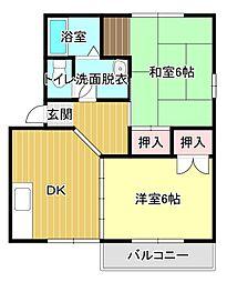 静岡県浜松市東区有玉台1丁目の賃貸アパートの間取り