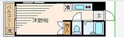東京都新宿区北新宿3丁目の賃貸マンションの間取り