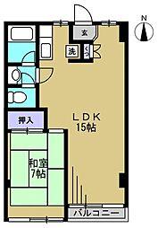 ニュー木原山ロッヂ[408kk号室]の間取り