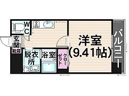 プレジールカヤシマ弐番館[506号室]の間取り