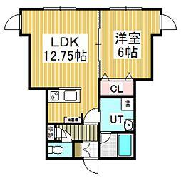 No.13[102号室]の間取り