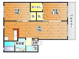 プランドール1[1階]の間取り