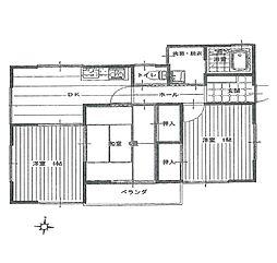 大谷口イブキハイツ[2階]の間取り