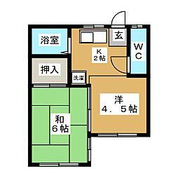 シャトーニシワキ[4階]の間取り