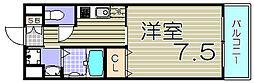 大阪府大阪市此花区伝法2丁目の賃貸アパートの間取り
