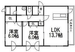 オクトフローラ[1階]の間取り