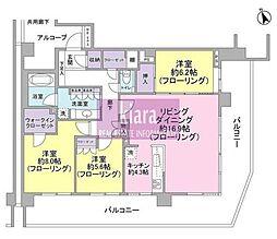 プレサンスロジェ横濱天王町[500号室]の間取り