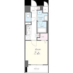 名古屋市営東山線 池下駅 徒歩9分の賃貸マンション 10階1Kの間取り