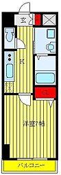 都営三田線 板橋本町駅 徒歩2分の賃貸マンション 3階1Kの間取り