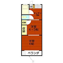 メゾン矢嶋[102号室]の間取り
