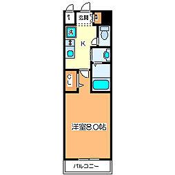 パレス大阪[4階]の間取り