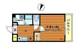 東京都三鷹市井の頭1丁目の賃貸マンションの間取り