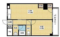 第2グランドコーポラス新大阪[2階]の間取り