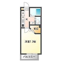 埼玉県和光市下新倉2丁目の賃貸アパートの間取り