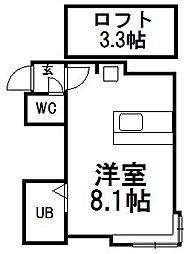 セレクト67[1階]の間取り