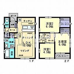 [一戸建] 香川県高松市室新町 の賃貸【/】の間取り