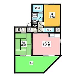 グランシャリオA棟[1階]の間取り