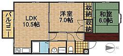 佐鳴台コンフォートA[102号室]の間取り