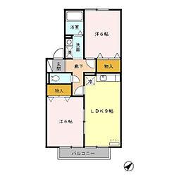 ル・コンフォ B[2階]の間取り