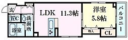 広島電鉄5系統 段原一丁目駅 徒歩23分の賃貸マンション 1階1LDKの間取り