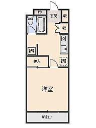 本木マンション[4階]の間取り