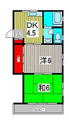 青木公園TKマンション[1階]の間取り