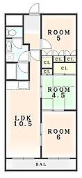 第14柴田マンション[306号室]の間取り