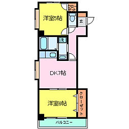 兵庫県神戸市灘区徳井町4丁目の賃貸マンションの間取り