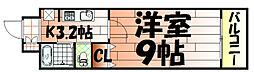 ウィングス片野Ⅱ[14階]の間取り