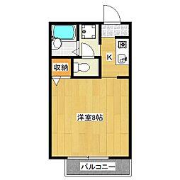 バンブーコート[2階]の間取り
