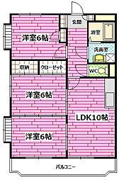 広島県安芸郡熊野町城之堀1丁目の賃貸マンションの間取り