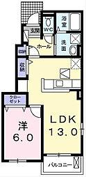 トーラスI[1階]の間取り