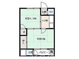 朝田マンション[2階]の間取り