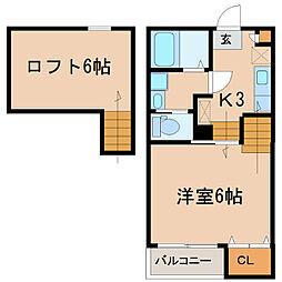YURI-NA鹿屋[205号室]の間取り