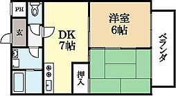 ガーデンハイツ広野[3階]の間取り
