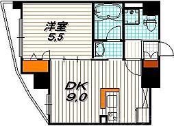 エステムプラザ京都河原町通IIレジデンシャル 4階1LDKの間取り