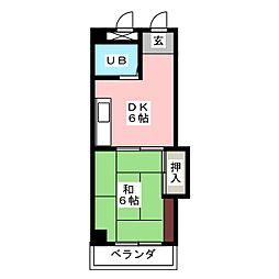 CASA NOAH鶴舞公園1[6階]の間取り