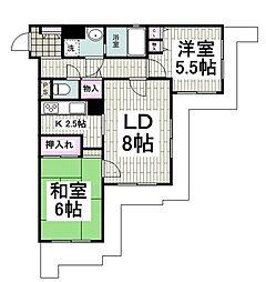 クリオ上永谷参番館 4階2LDKの間取り