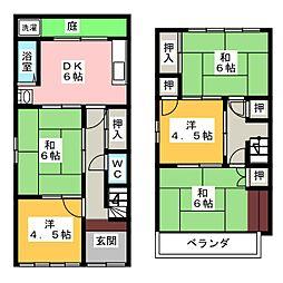 [一戸建] 愛知県名古屋市中村区五反城町8丁目 の賃貸【/】の間取り
