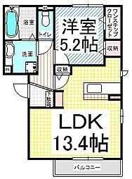 エスポワール・東和田B[3階]の間取り