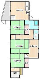 [一戸建] 山口県下関市上田中町1丁目 の賃貸【/】の間取り