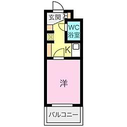 ライオンズマンション東片端[2階]の間取り