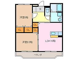 三重県鈴鹿市長太栄町2丁目の賃貸マンションの間取り