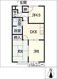 ビューハイツ有松A棟[1階]の間取り
