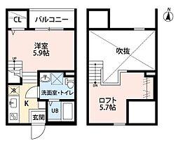 SPICA中島新町[2階]の間取り