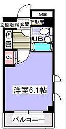 ローズガーデンA81番館[2階]の間取り